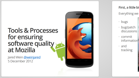 Tools & Processes for ensuring software quality at Mozilla
