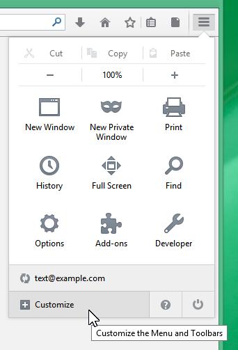 Customize Firefox