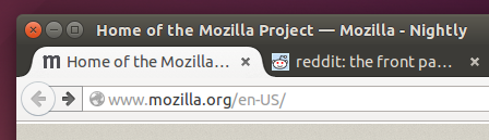 Firefox on Linux with forward button