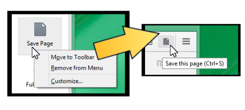 Moving the Save Page button to the toolbar