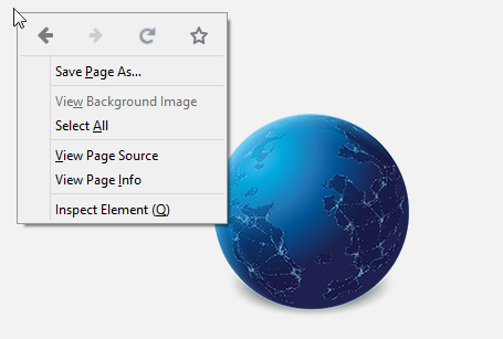 New context menu